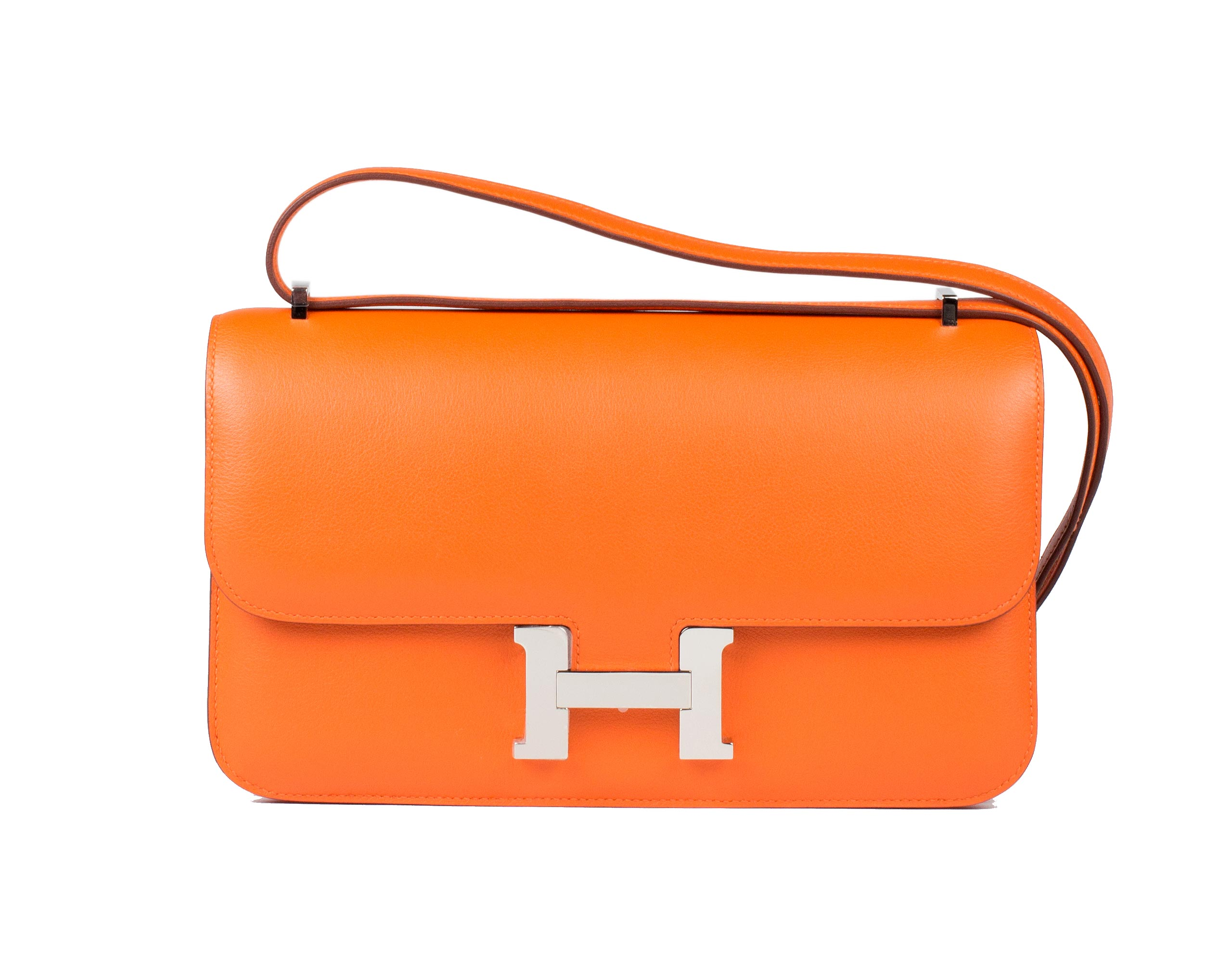 Hermes Bag Constance Elan Orange Swift C13 Front