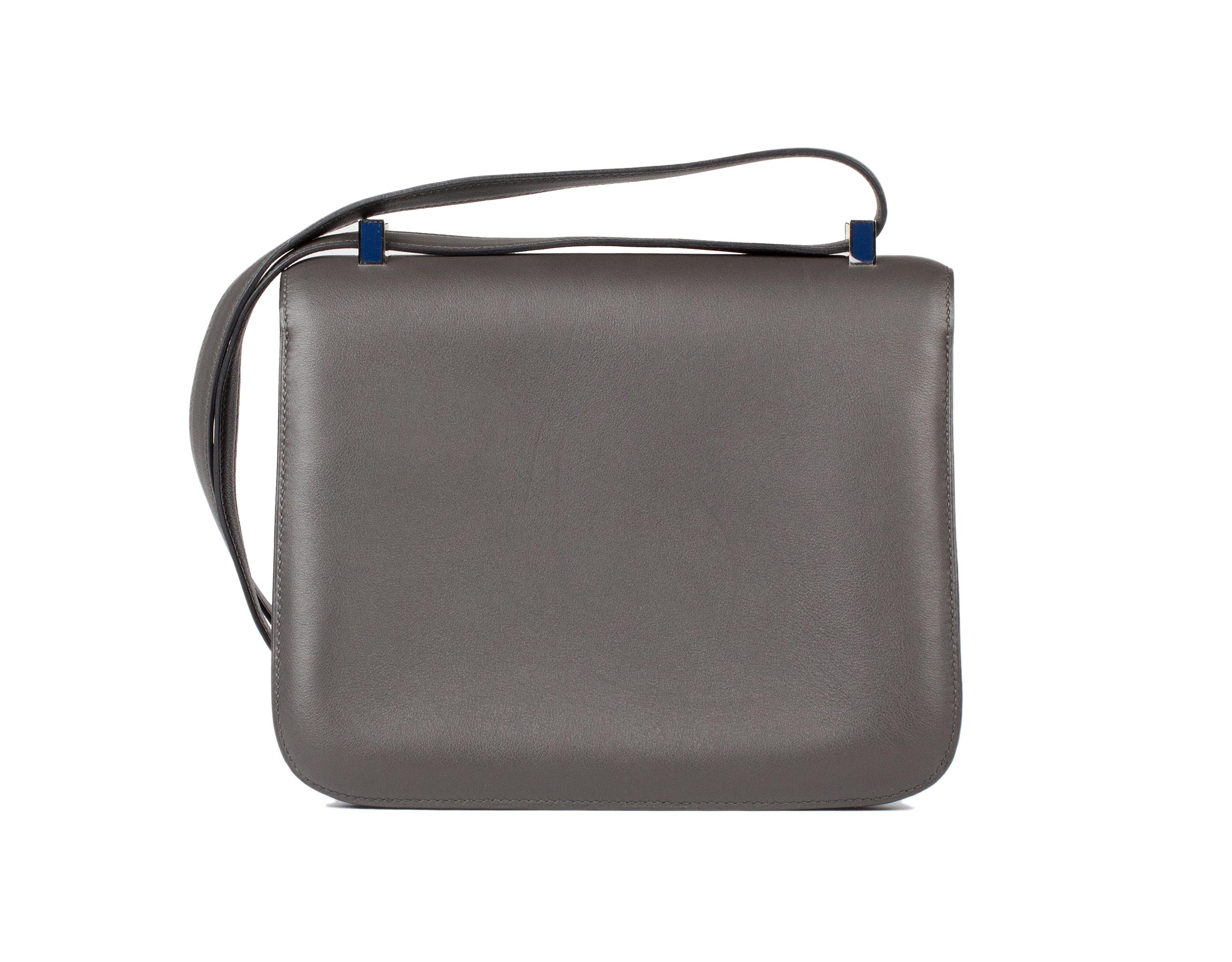 Hermes Bag Constance Graphite And Blue Swift C8 Back