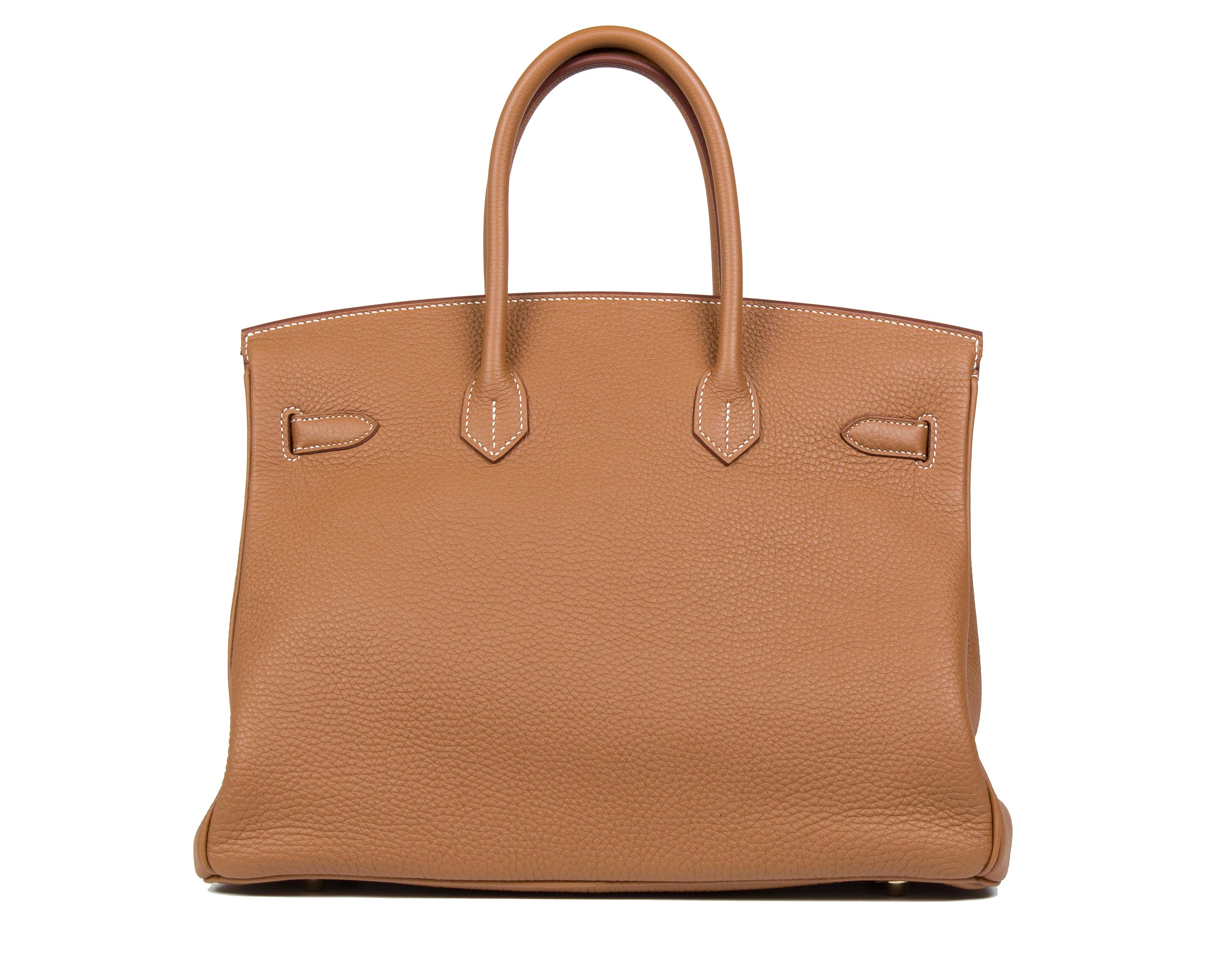 Hermes Birkin Bag Gold Togo 35cm Back