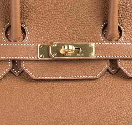 Hermes Birkin Bag Gold Togo 35cm Lock