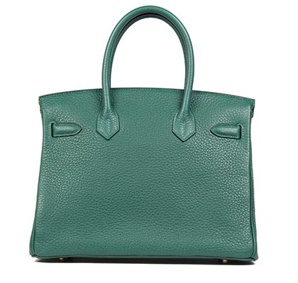 Hermes Bag Birkin Malachite Clemence 30cm B88 Back