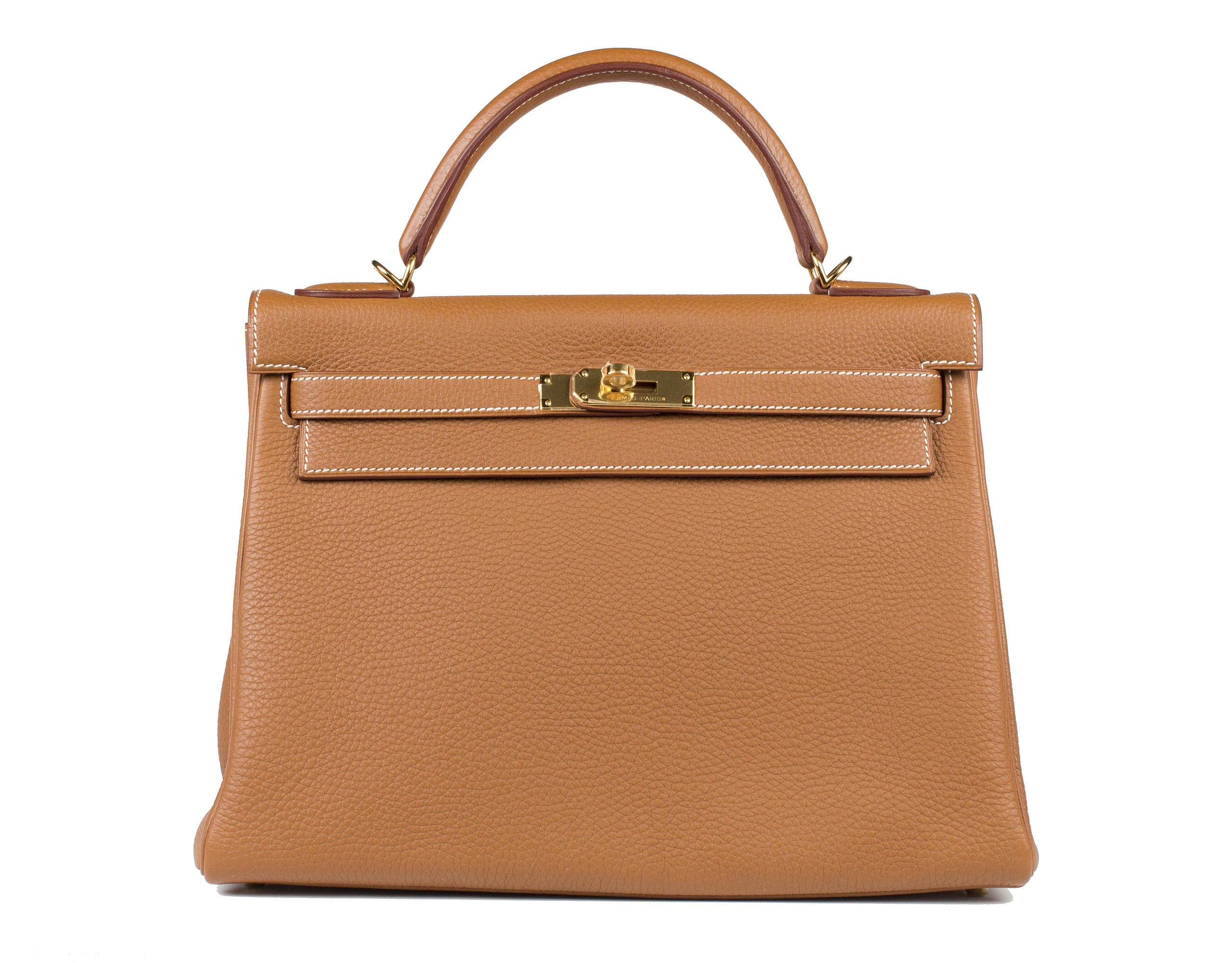 Hermes Bag Kelly Gold Togo 32cm K74 Front
