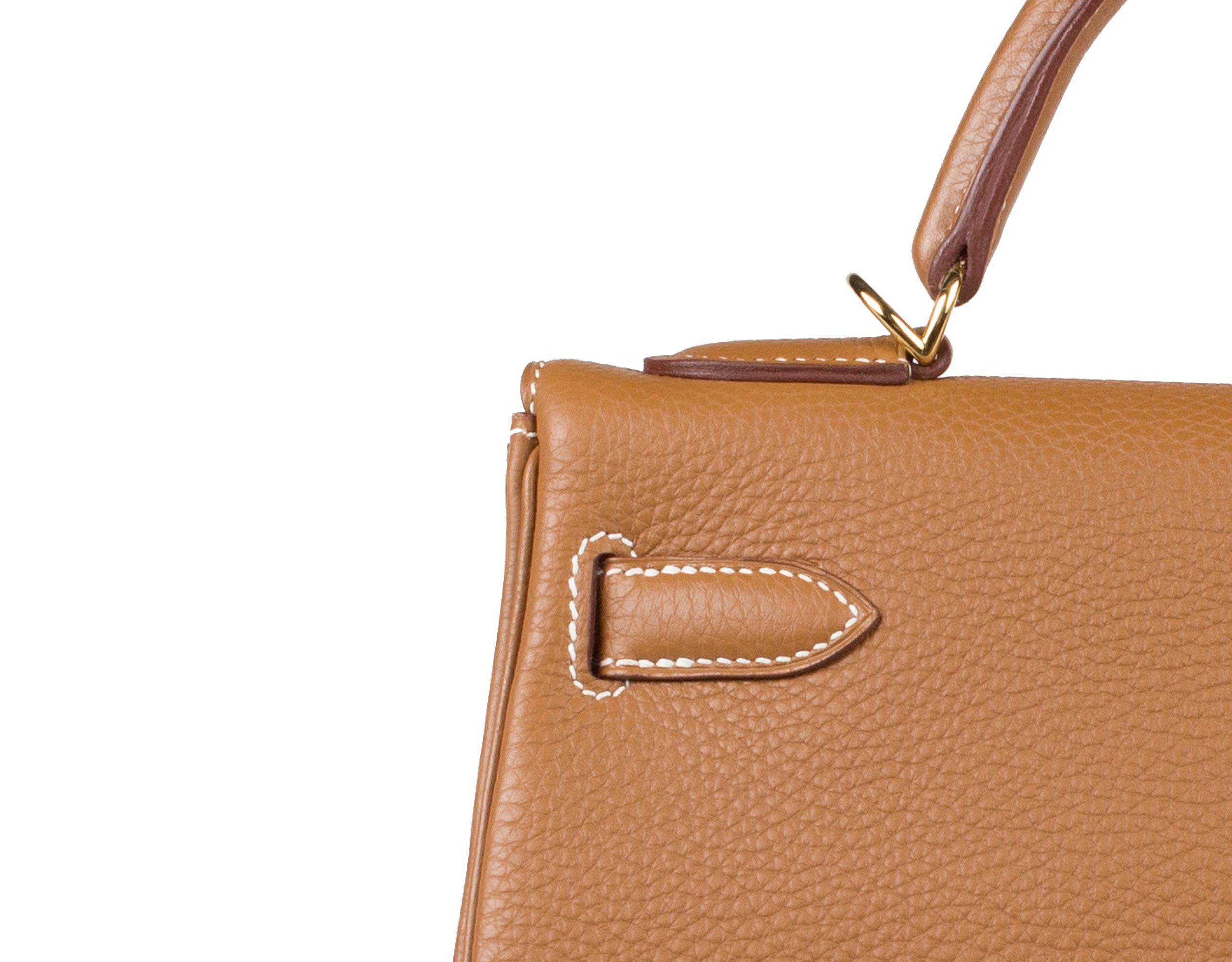 Hermes Bag Kelly Gold Togo 32cm K74 Stitching