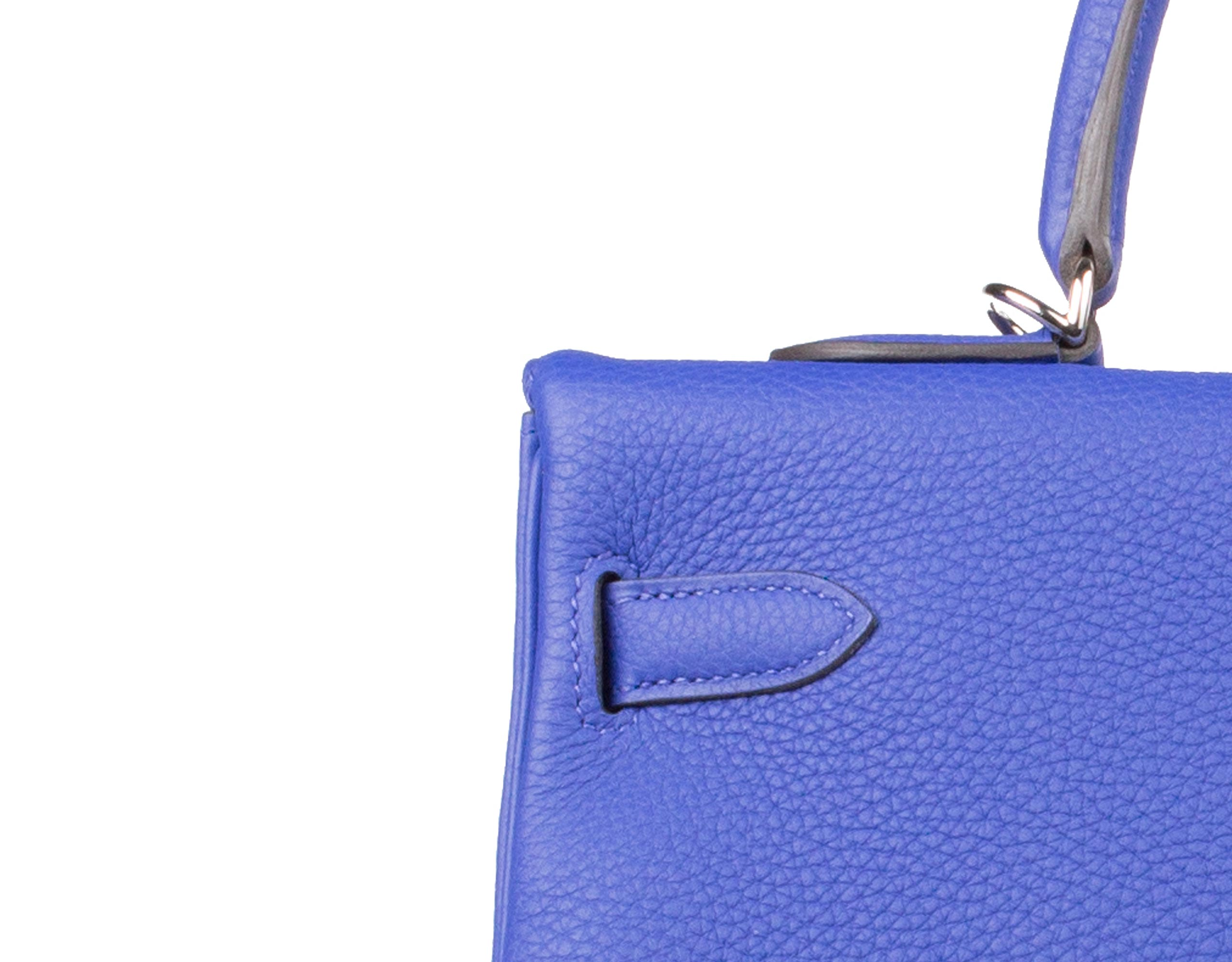 Hermes Bag Kelly Blue Electric Togo 35cm K73 Stitching