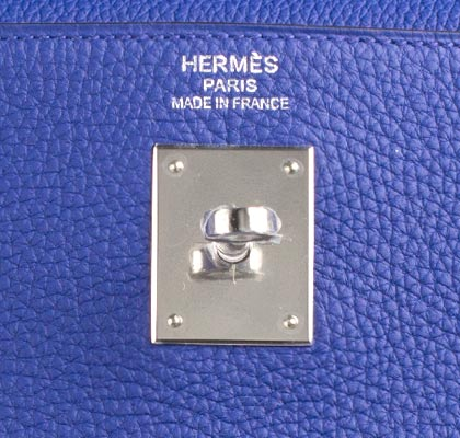 Hermes Bag Kelly Blue Electric Togo 35cm K73 Gilt