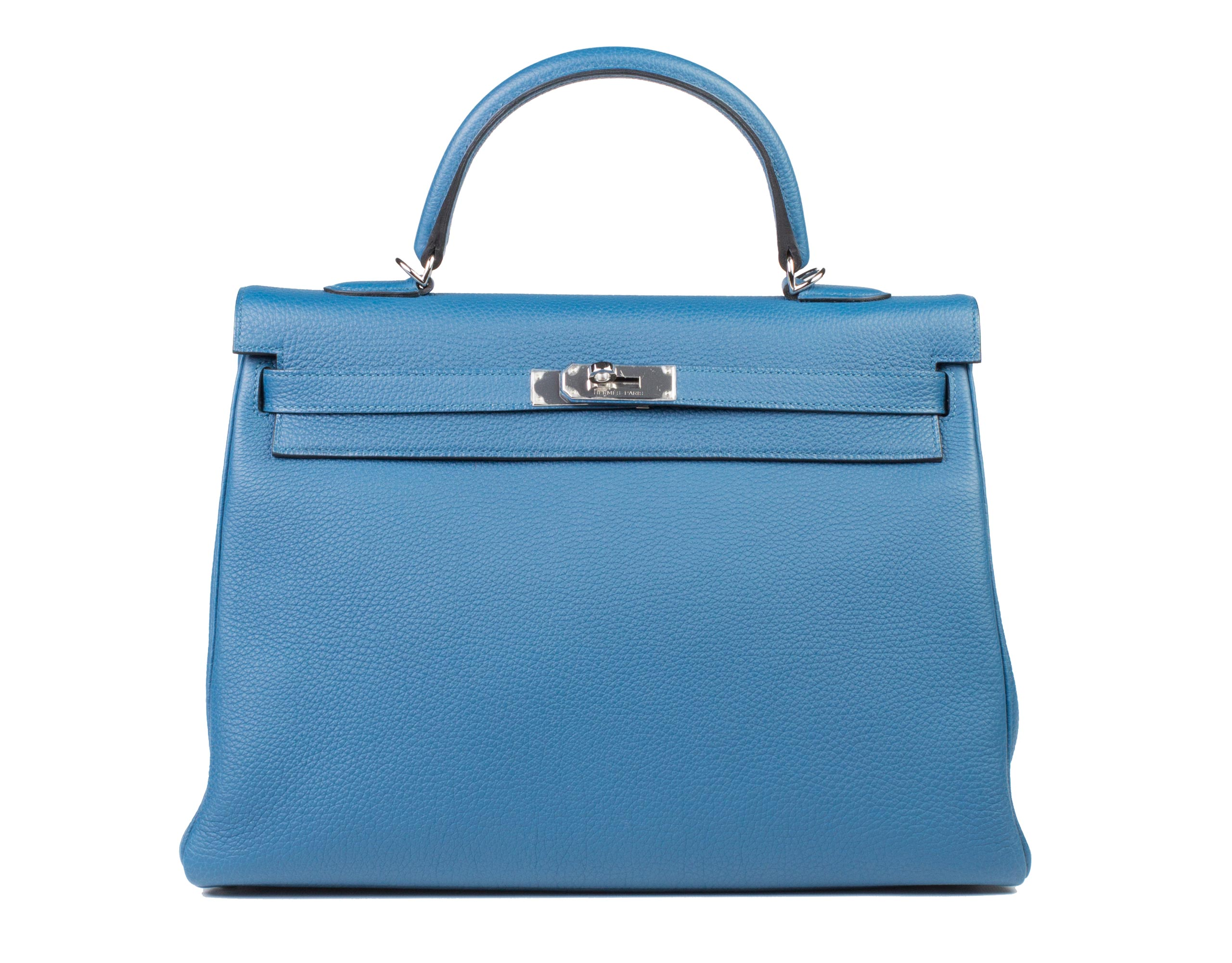 Hermes Bag Kelly Blue Galice Togo 35cm K75 Front
