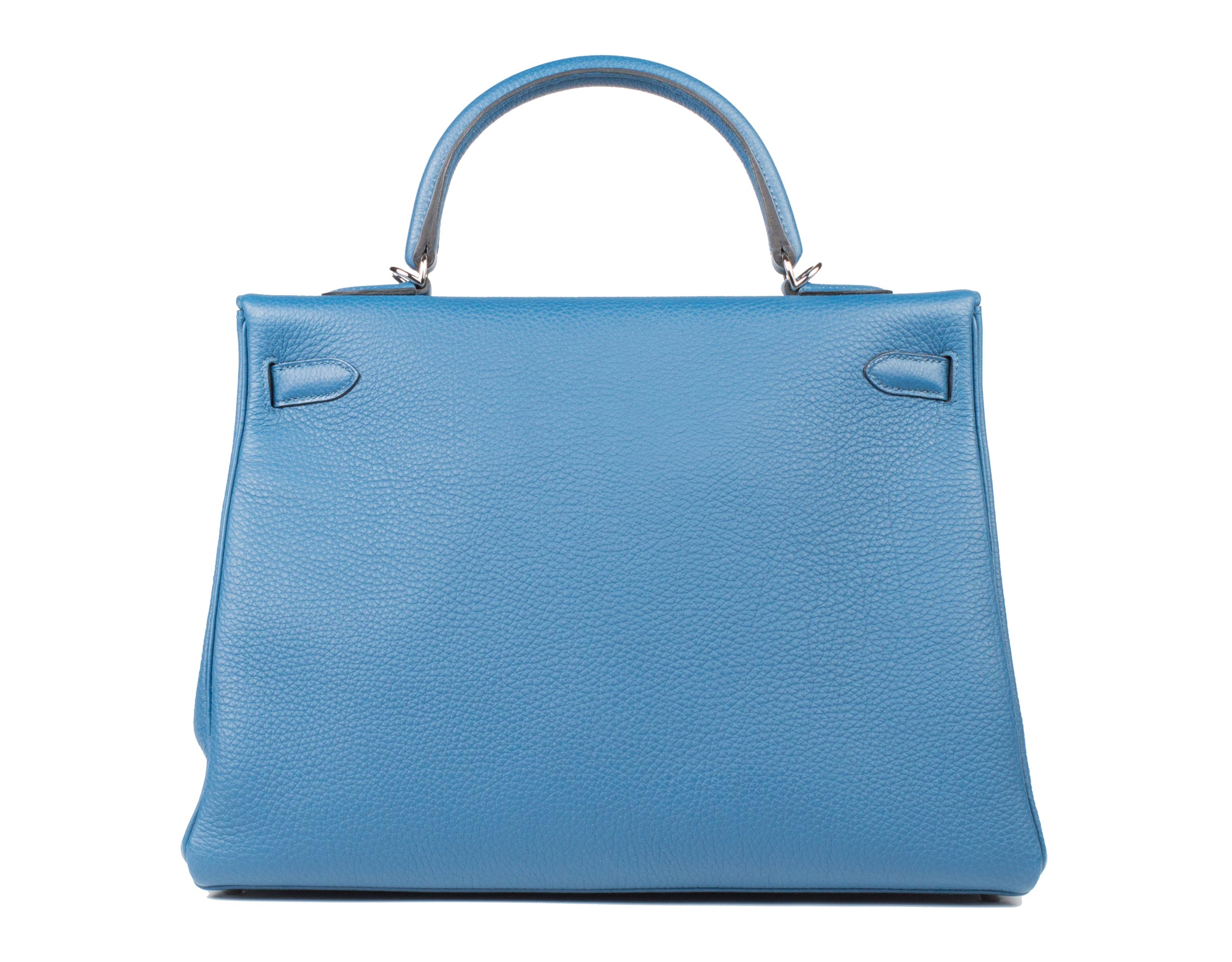 Hermes Bag Kelly Blue Galice Togo 35cm K75 Back