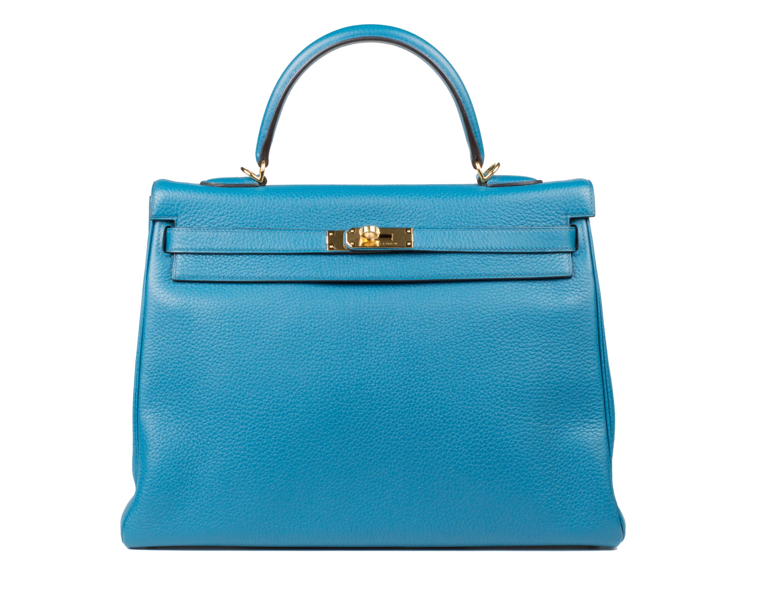 Hermes Bag Kelly Blue Izmir Togo 35cm K74 Front