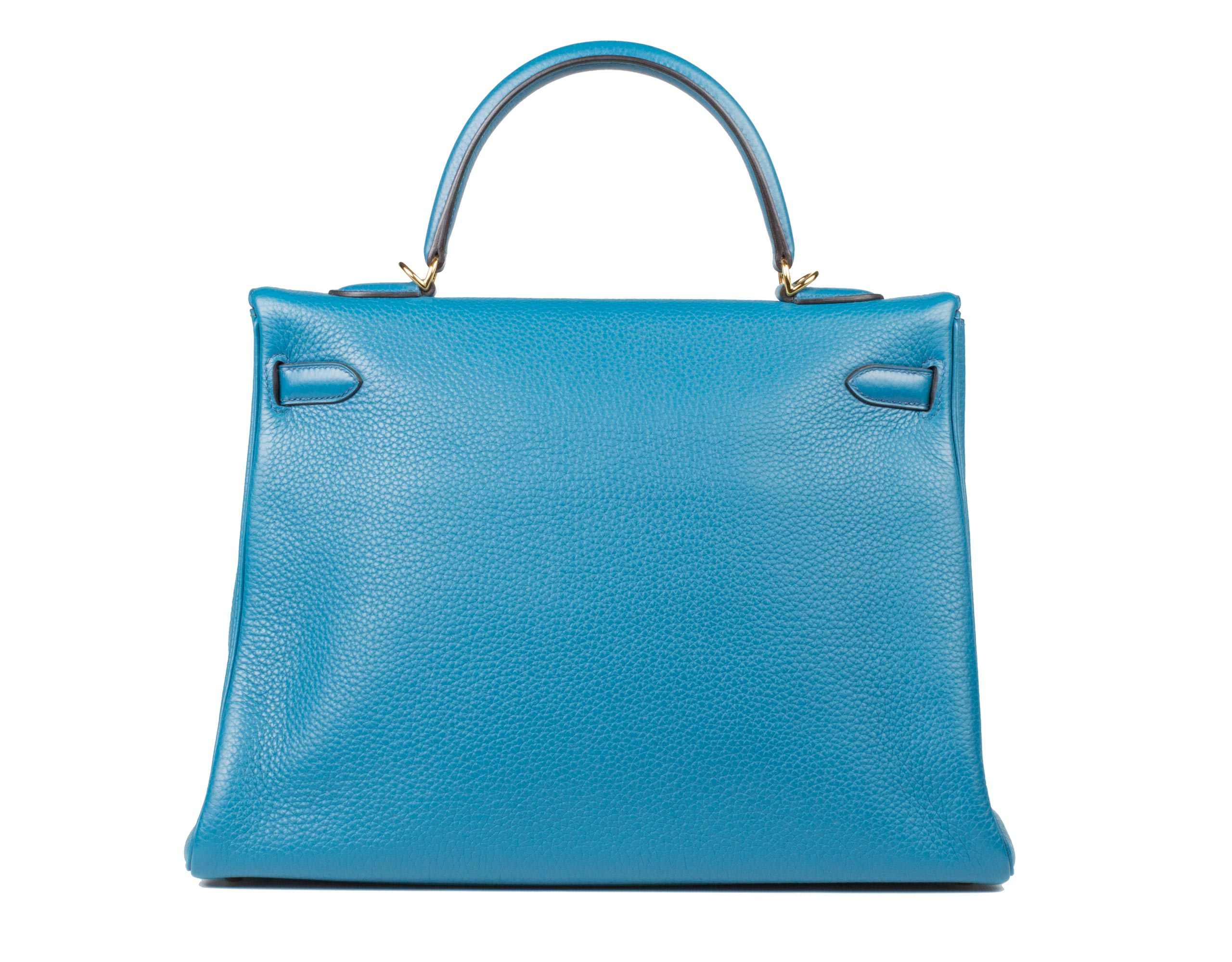 Hermes Bag Kelly Blue Izmir Togo 35cm K74 Back