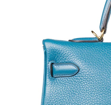 Hermes Bag Kelly Blue Izmir Togo 35cm K74 Stitching