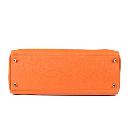 Hermes Bag Kelly Orange Clemence 35cm K73 Base