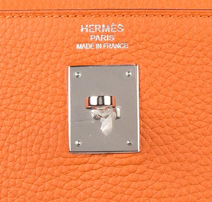 Hermes Bag Kelly Orange Clemence 35cm K73 Gilt