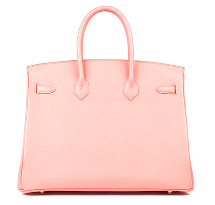 Hermes Bag Birkin Flamingo Epsom 35cm B101 Back