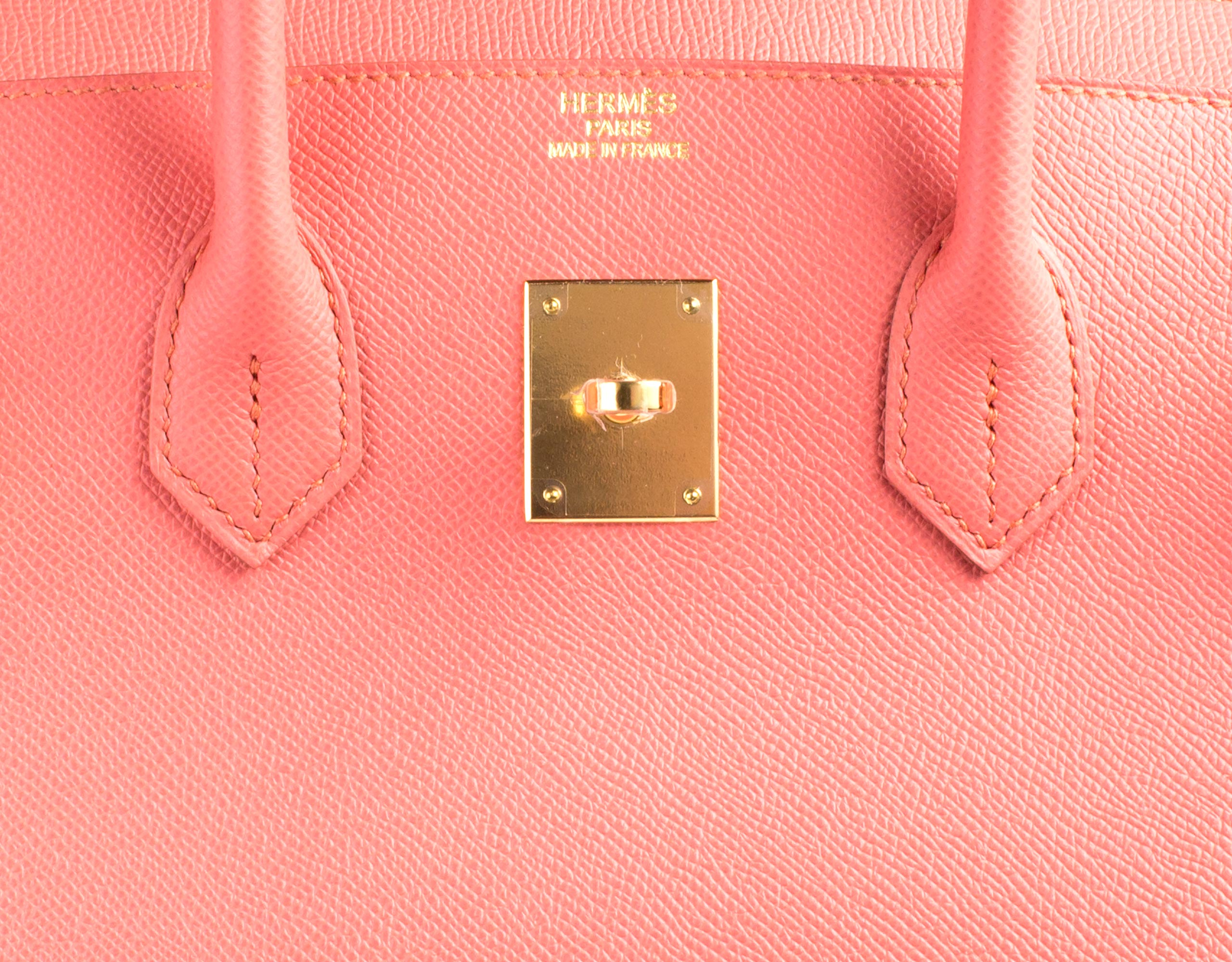 Hermes Bag Birkin Flamingo Epsom 35cm B101 Gilt