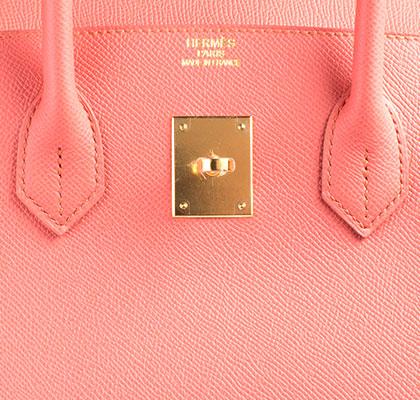 Hermes Bag Birkin Flamingo Epsom 35cm B101 Gilt