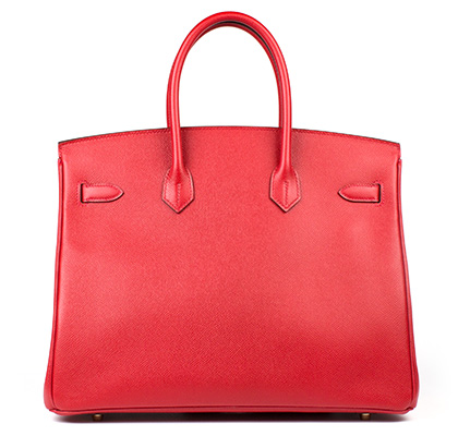 Hermes Bag Birkin Rouge Casaque Epsom 35cm B100 Back
