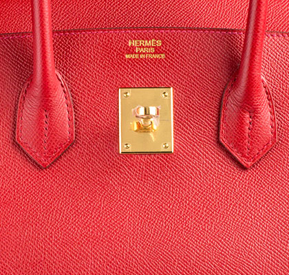 Hermes Bag Birkin Rouge Casaque Epsom 35cm B100 Gilt