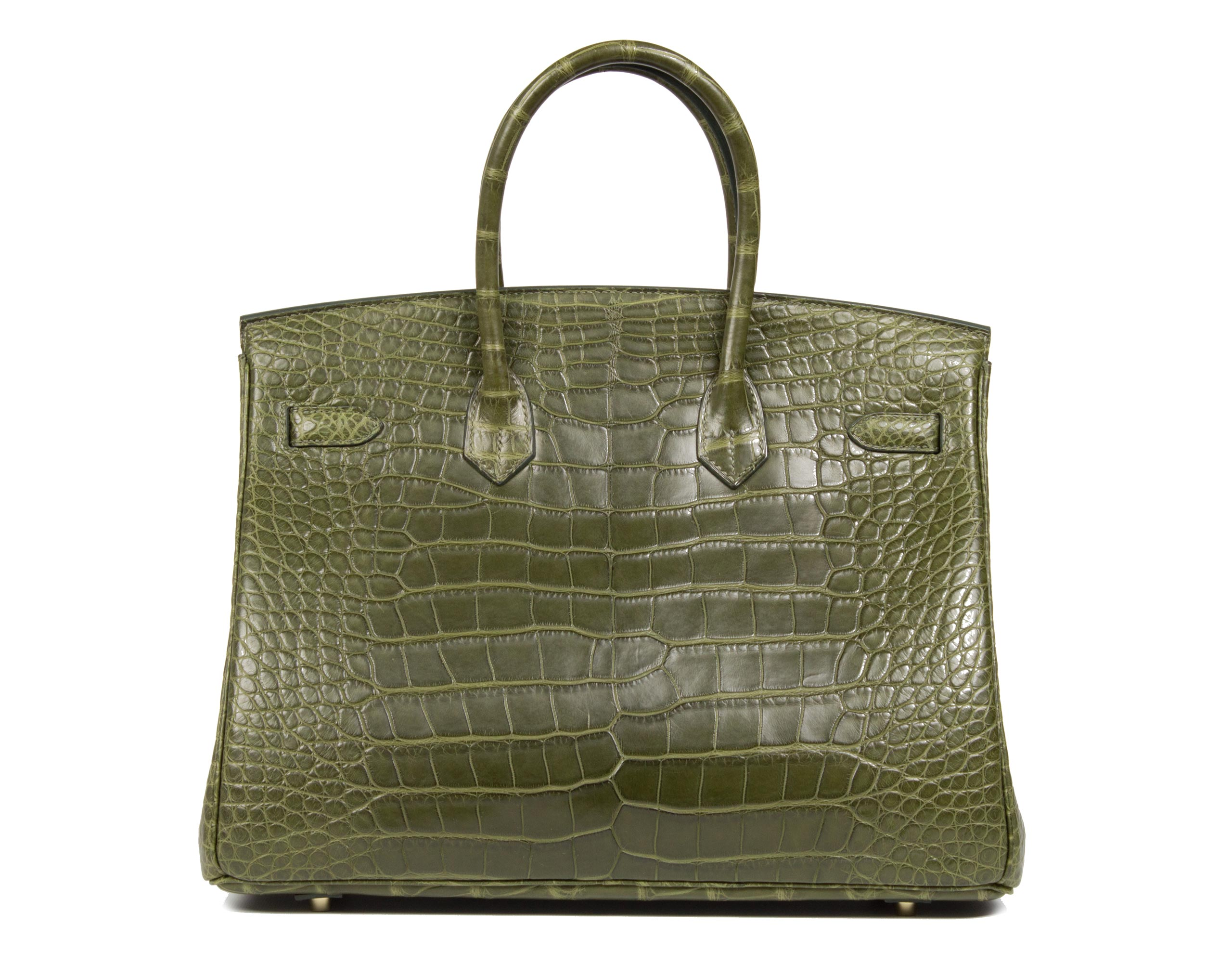 Hermes Bag Birkin Veronese Alligator Matt 35cm B89 Back