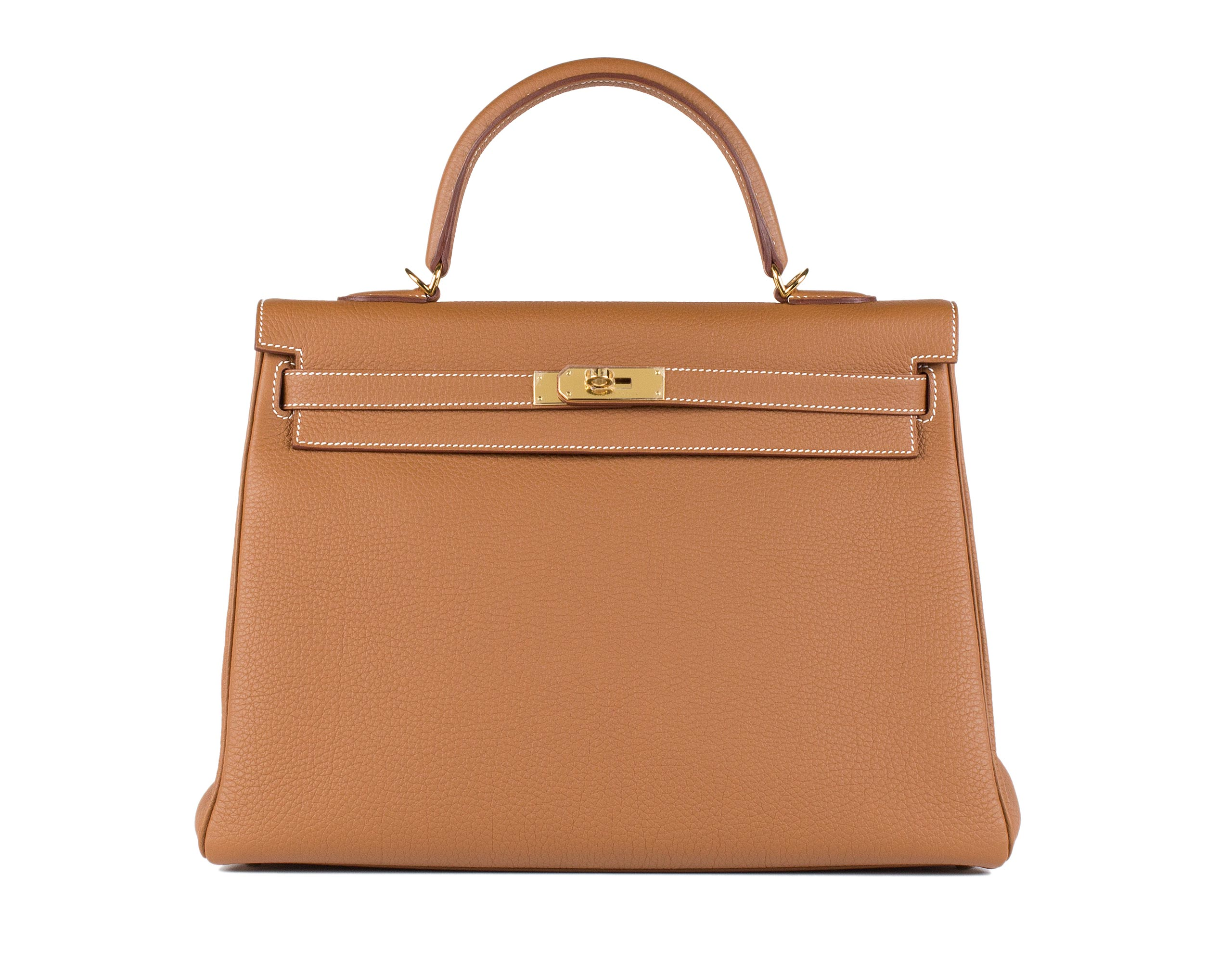 Hermes Bag Kelly Gold Togo 35cm K74 Front