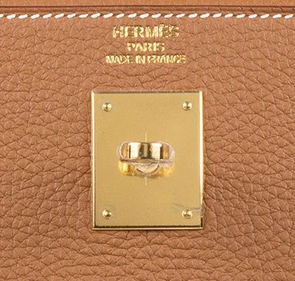 Hermes Bag Kelly Gold Togo 35cm K74 Gilt