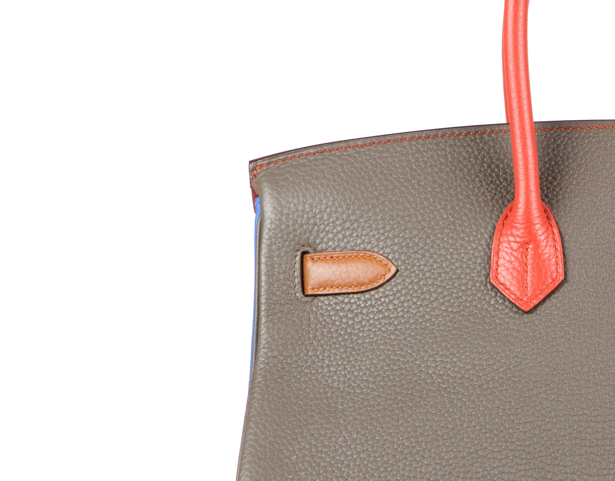 Hermes Bag Birkin Arlequin Multi Colours Clemence 35cm B115 Stitching