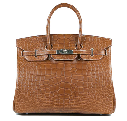Hermes Bag Birkin Fauve Matt Alligator 35cm B117 Front