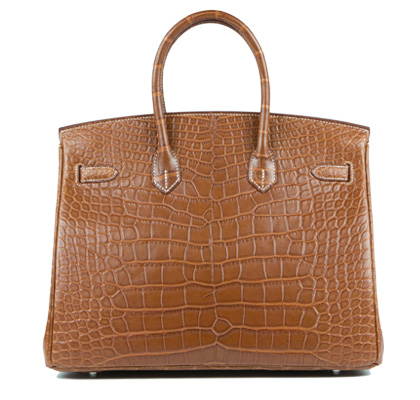 Hermes Bag Birkin Fauve Matt Alligator 35cm B117 Back