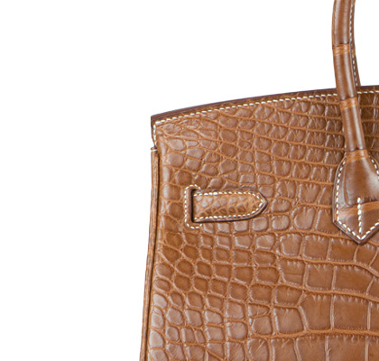 Hermes Bag Birkin Fauve Matt Alligator 35cm B117 Stitching