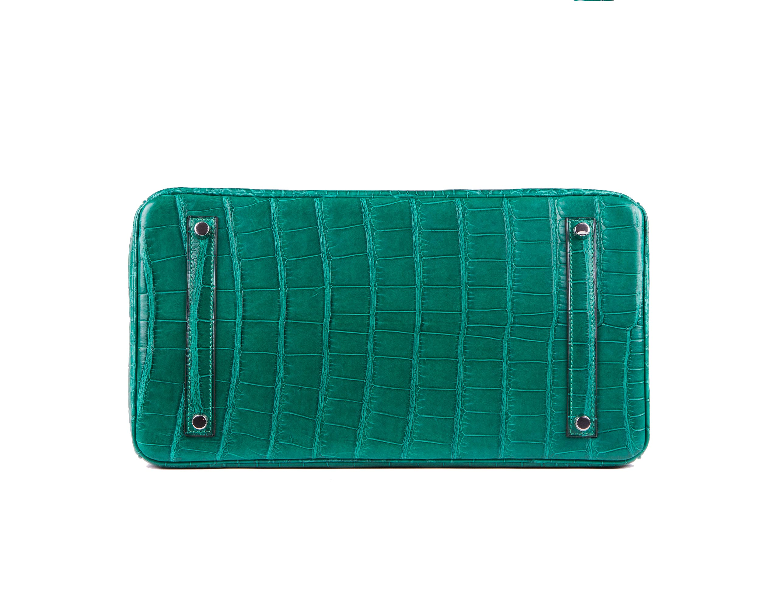 Hermes Bag Birkin Malachite Matt Alligator 35cm B118 Base