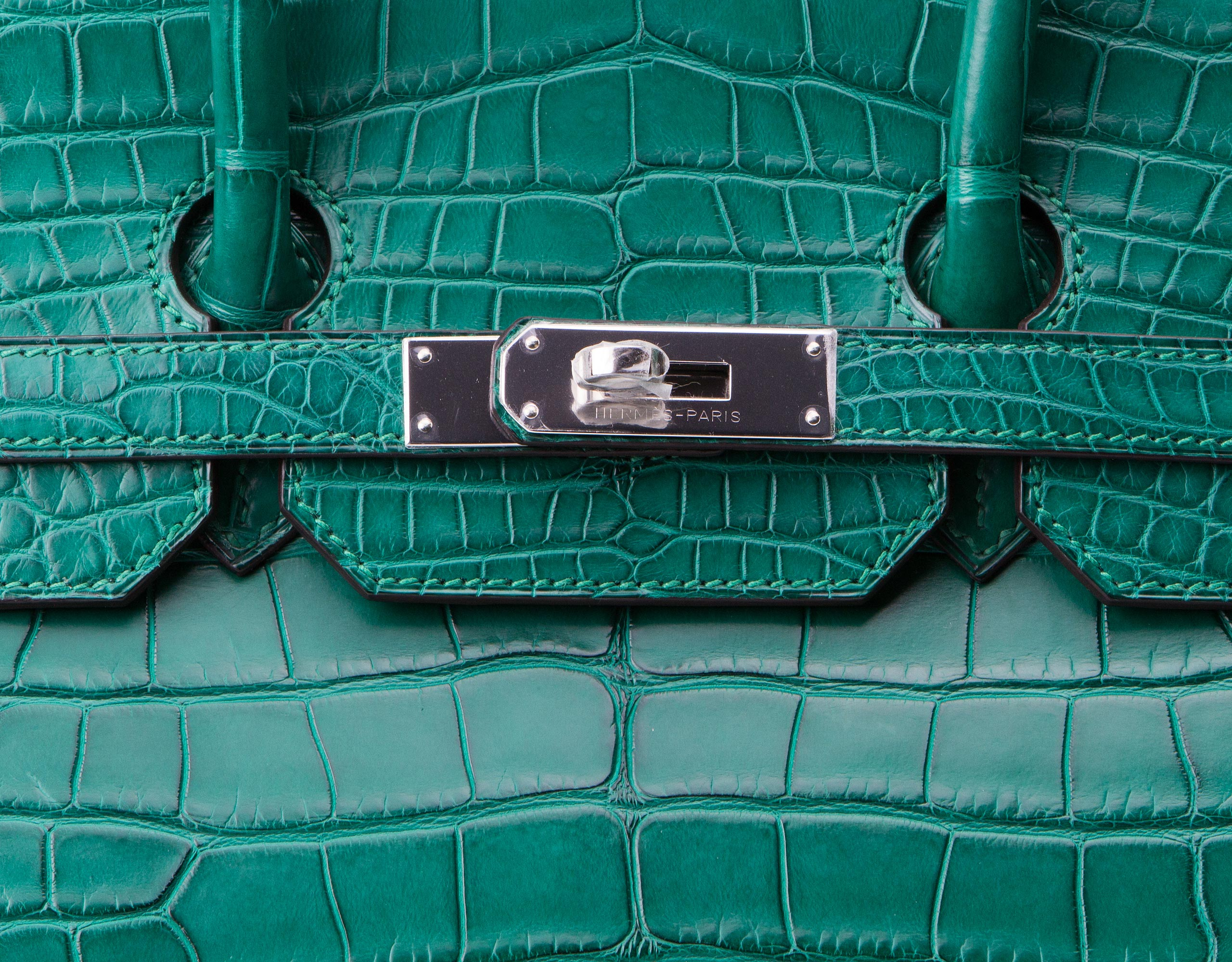 Hermes Bag Birkin Malachite Matt Alligator 35cm B118 Lock