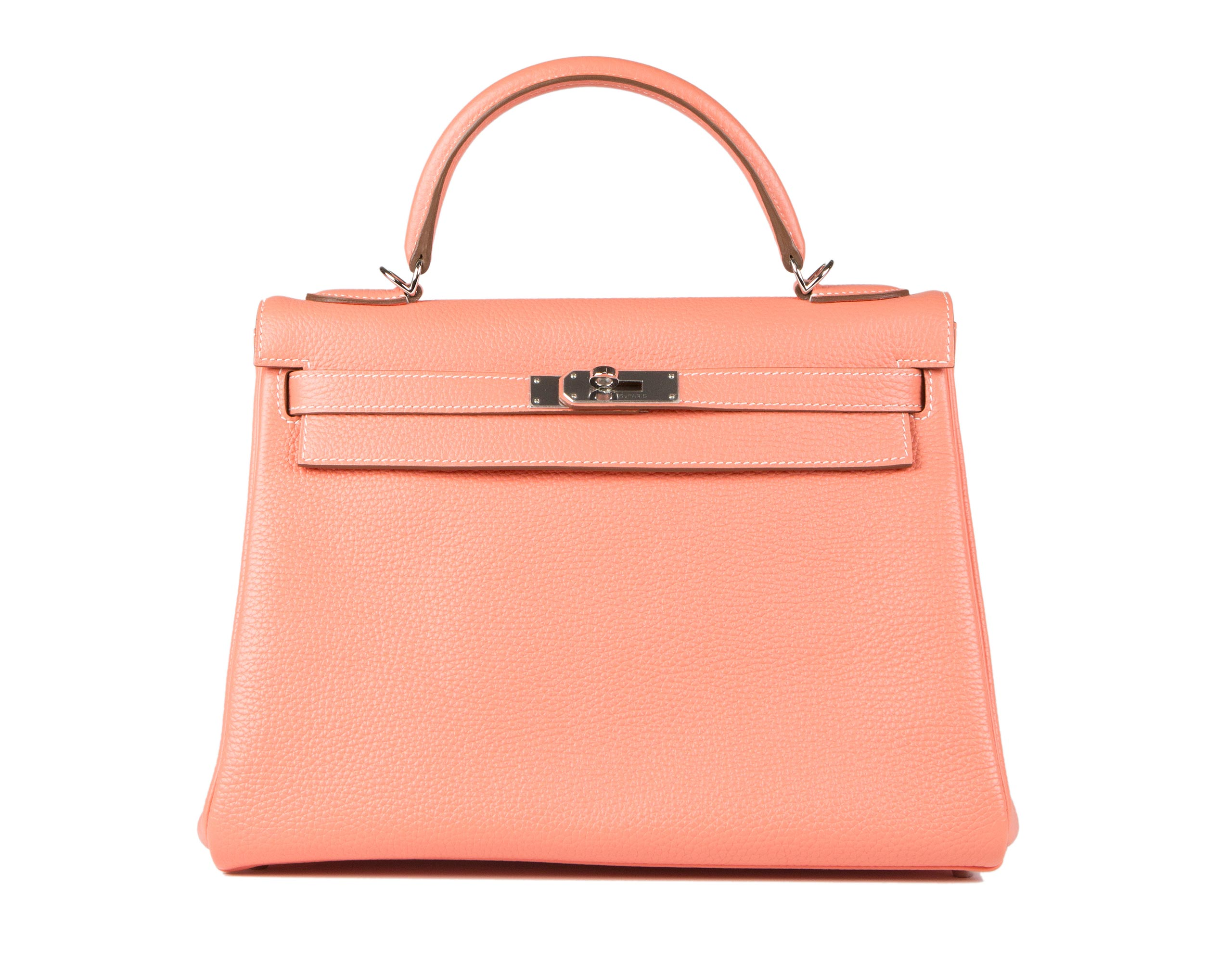 Hermes Kelly Bag Crevette Togo With Palladium 32cm front