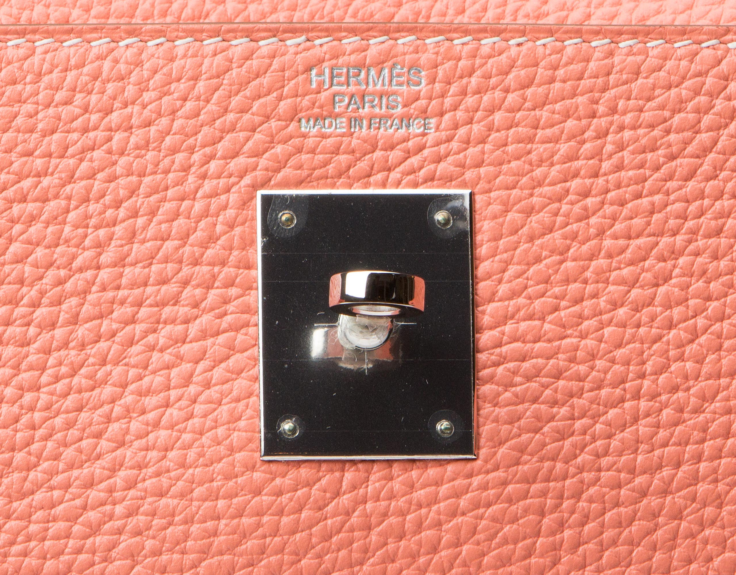 Hermes Kelly Bag Crevette Togo With Palladium 32cm gilt
