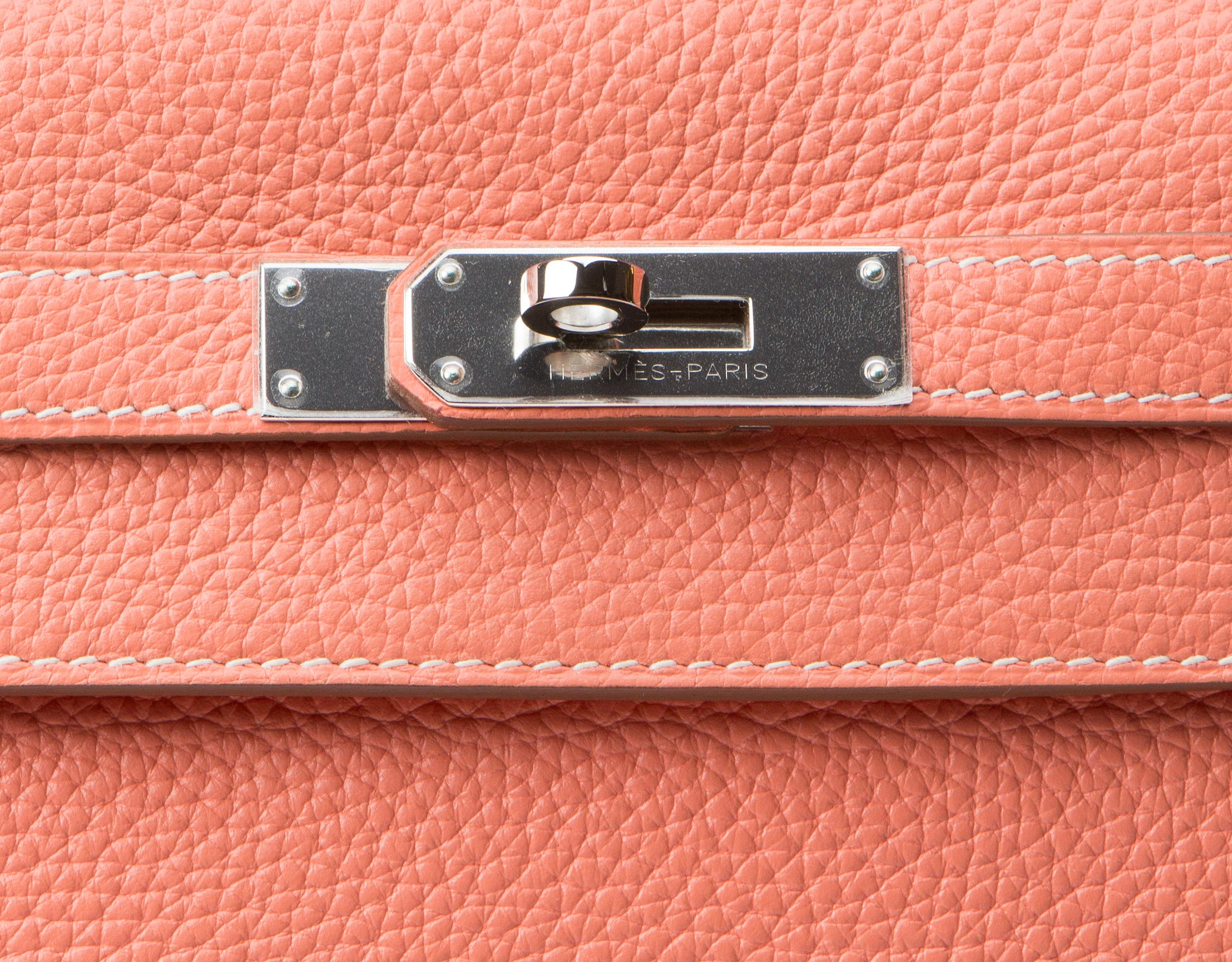 Hermes Kelly Bag Crevette Togo With Palladium 32cm lock