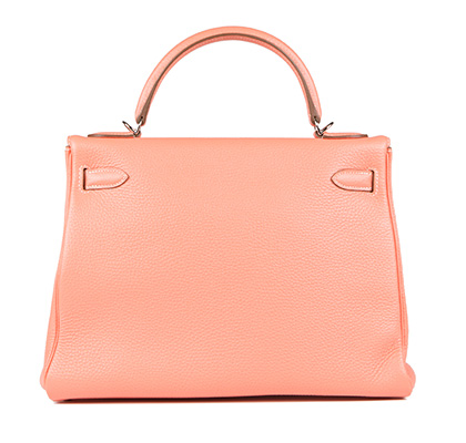 Hermes Bag Kelly Crevette Togo 32cm K77 Back