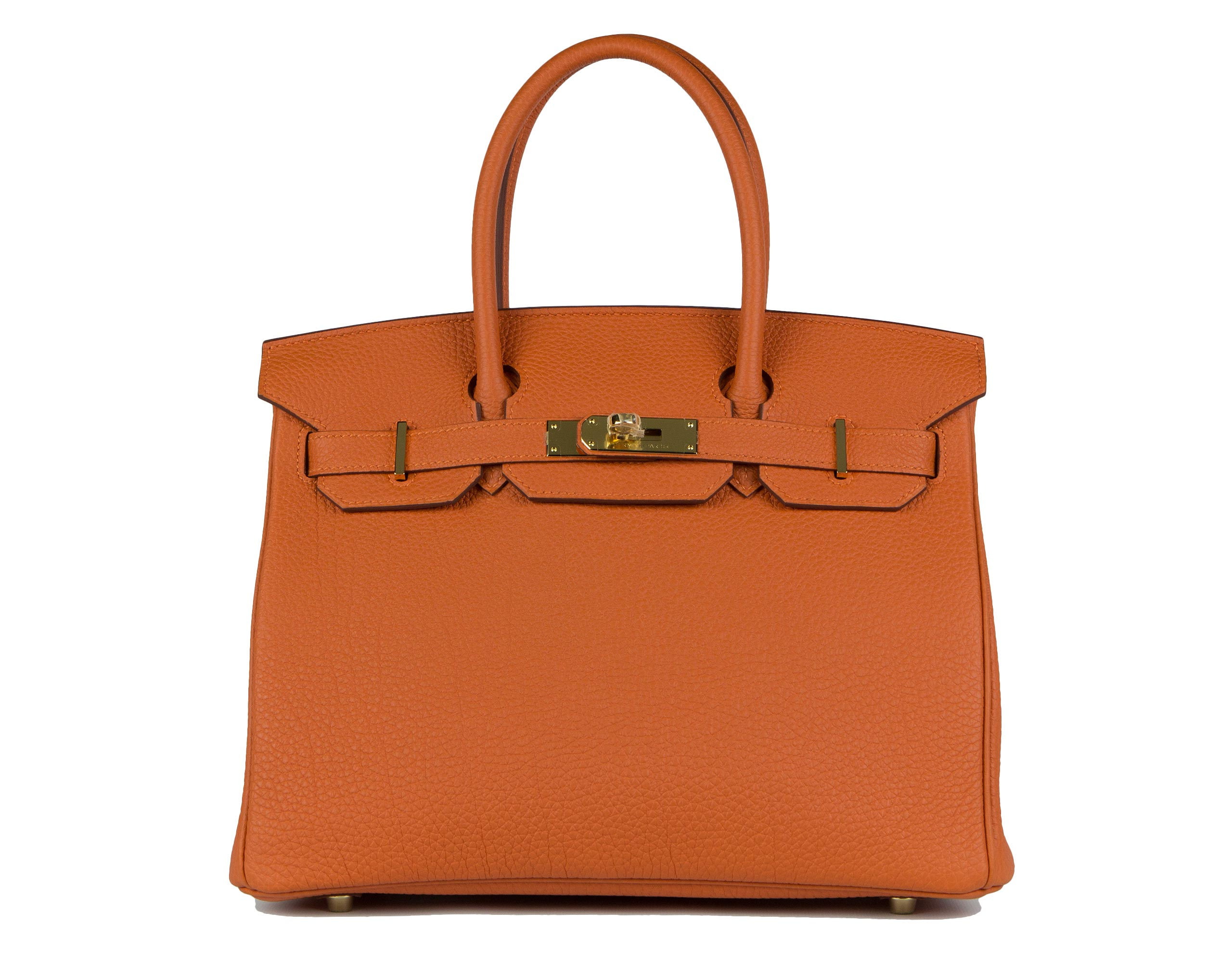 Hermes Bag Birkin Orange Togo 30cm B125 Front