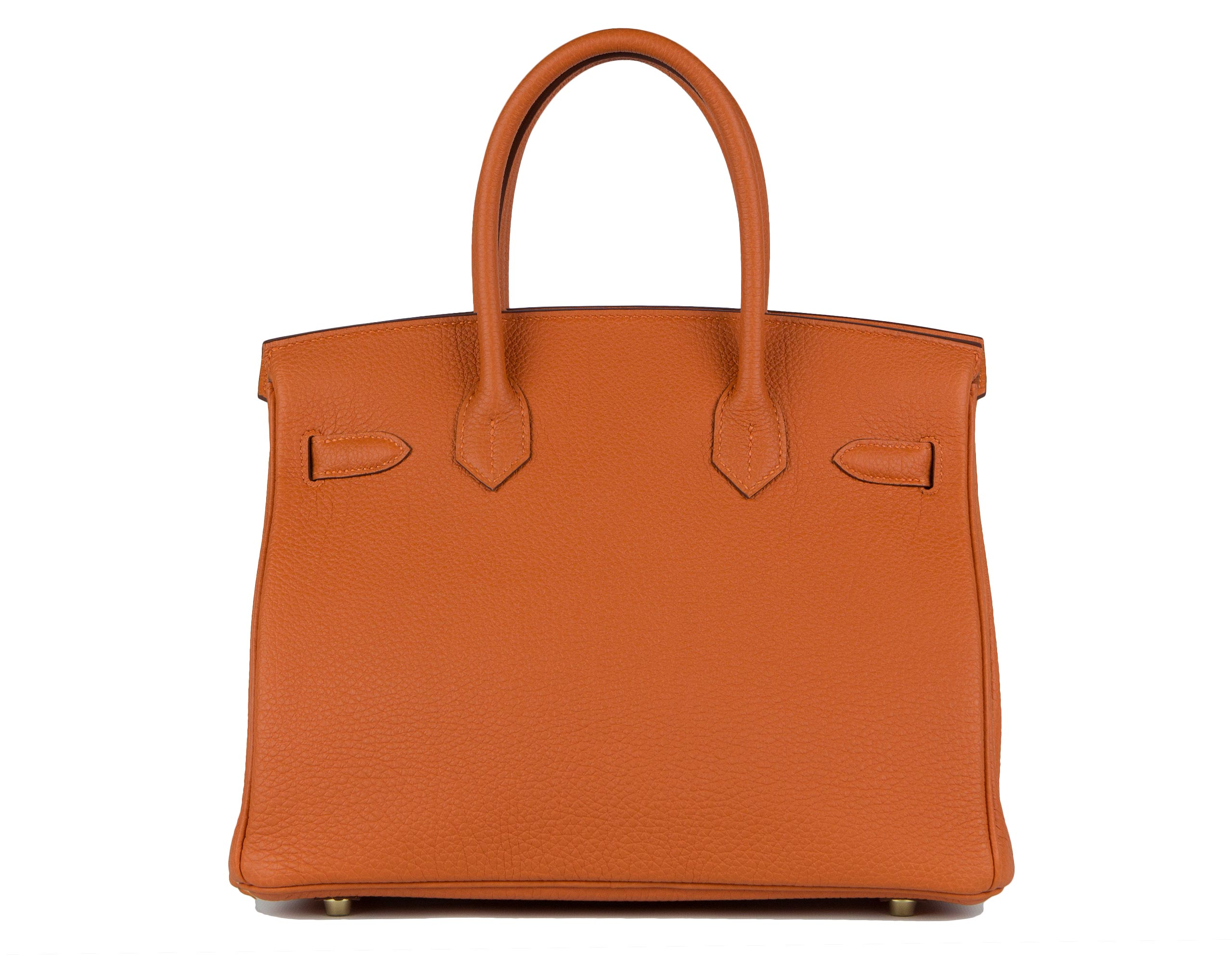 Hermes Bag Birkin Orange Togo 30cm B125 Back