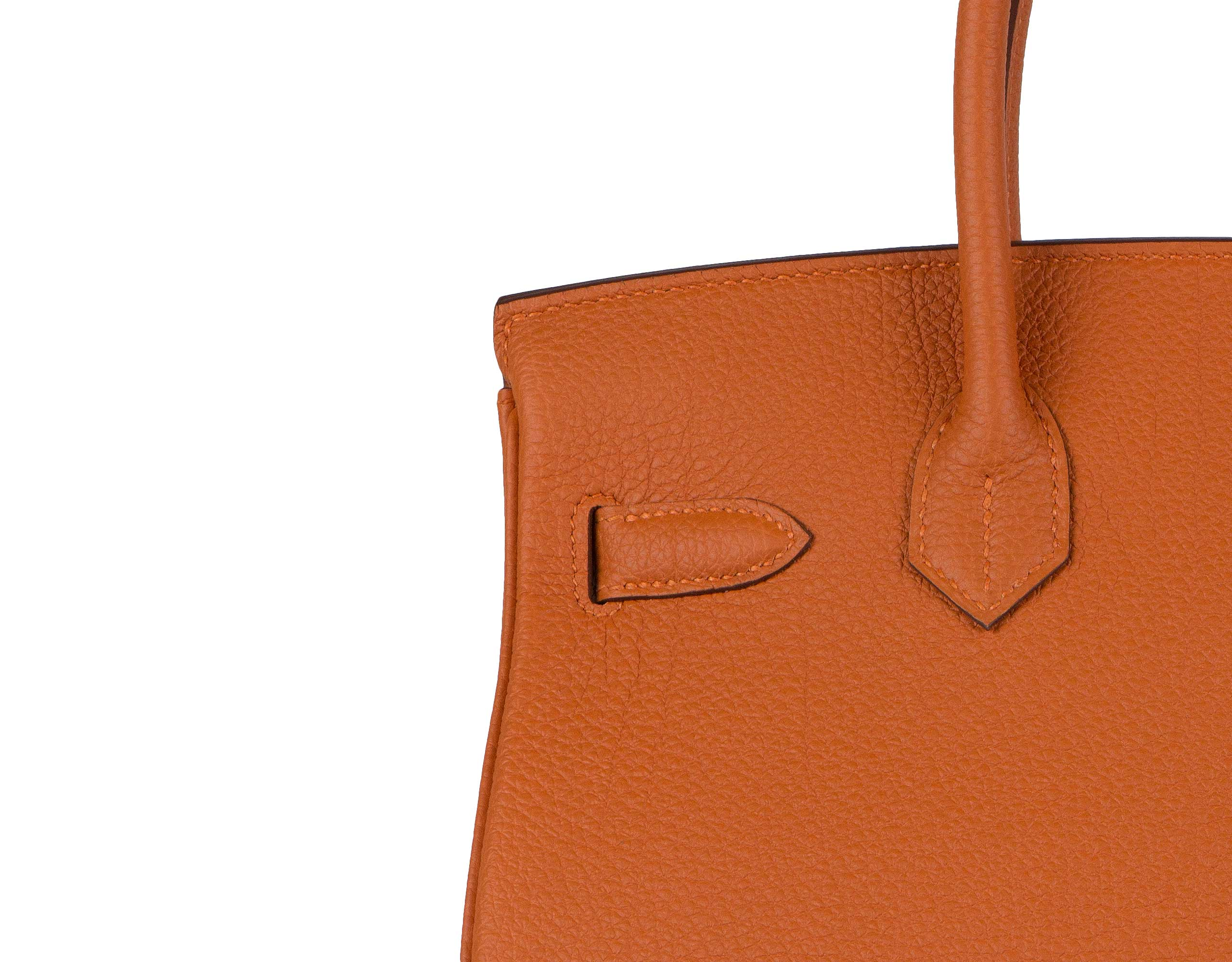 Hermes Bag Birkin Orange Togo 30cm B125 Stitching