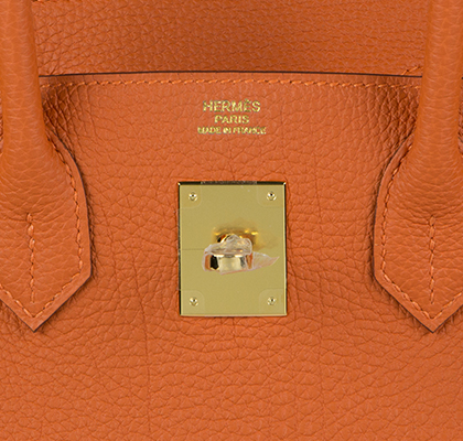 Hermes Bag Birkin Orange Togo 30cm B125 Gilt