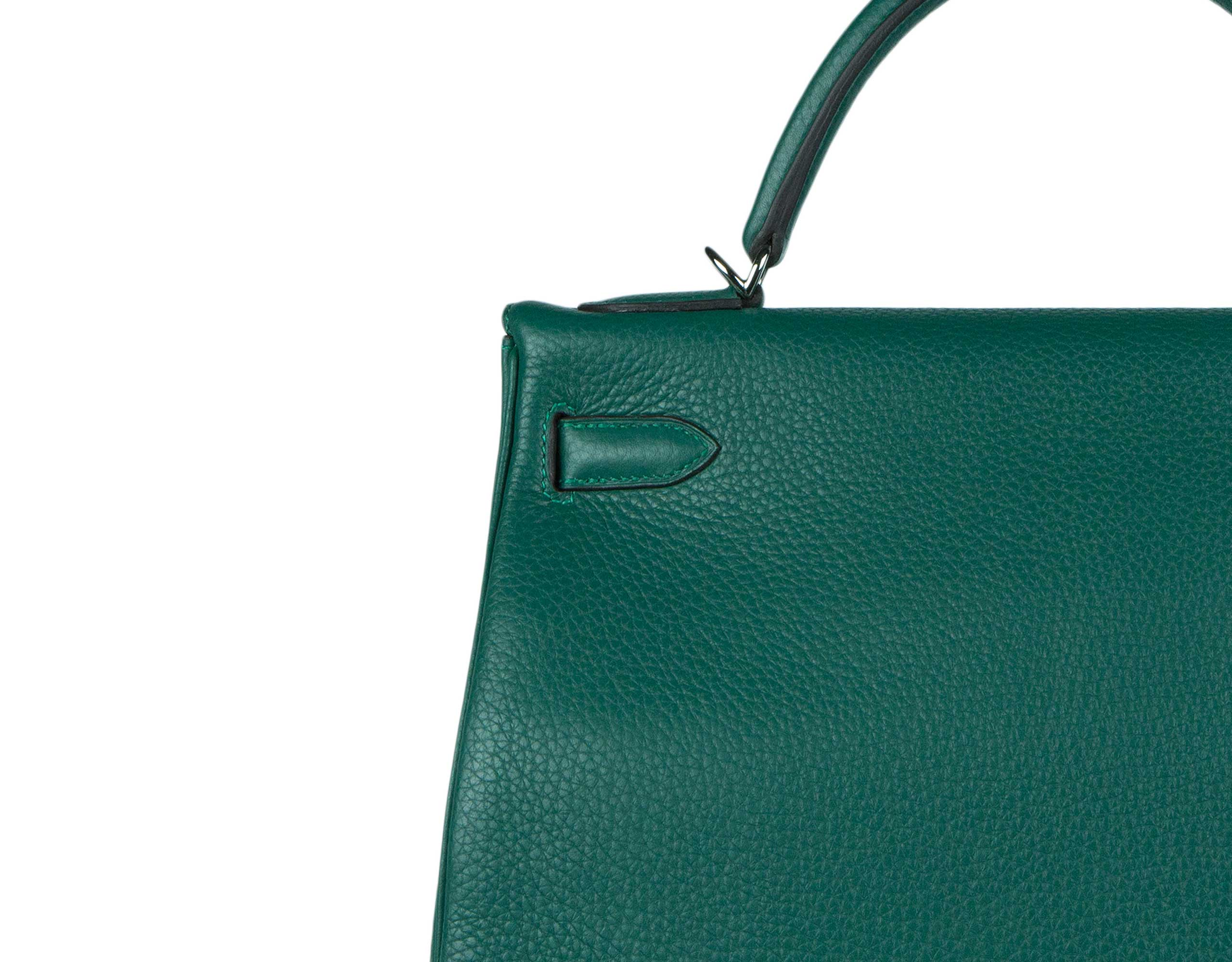 Hermes Bag Kelly Amazone Malachite Togo 32cm K82 Stitching