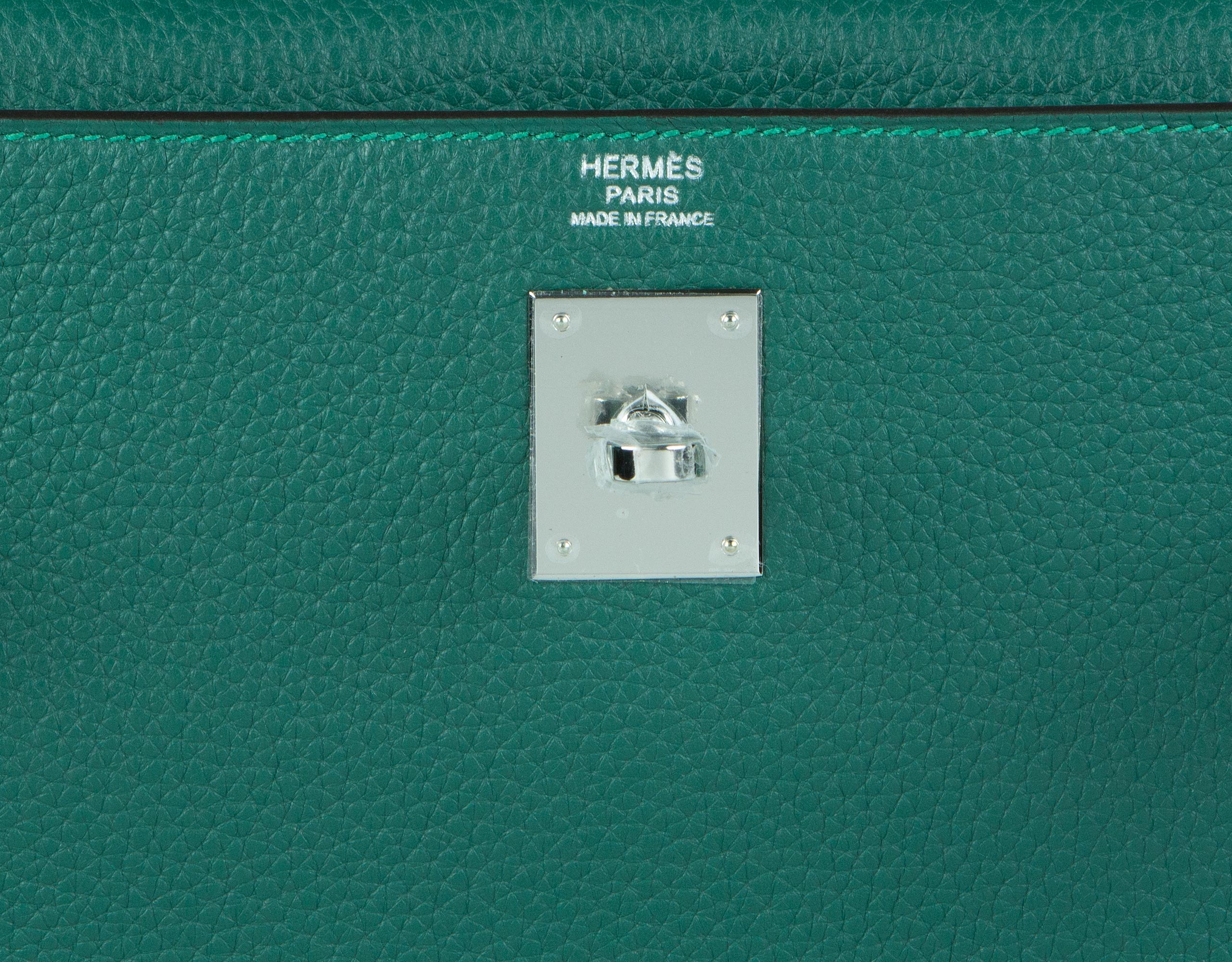 Hermes Bag Kelly Amazone Malachite Togo 32cm K82 Gilt