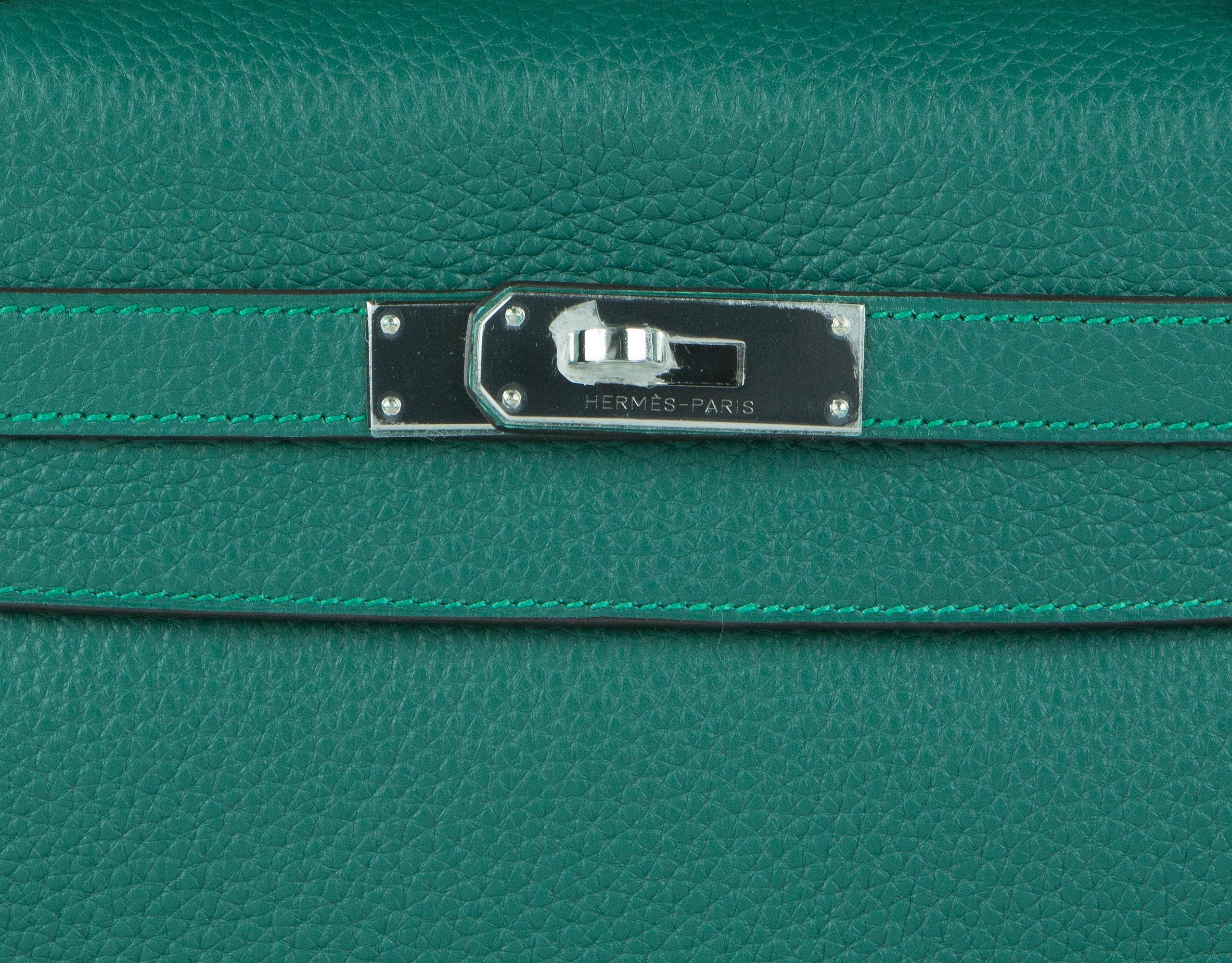 Hermes Bag Kelly Amazone Malachite Togo 32cm K82 Lock