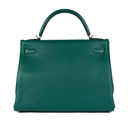 Hermes Bag Kelly Amazone Malachite Togo 32cm K82 Back