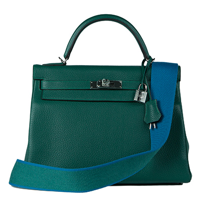 Hermes Bag Kelly Amazone Malachite Togo 32cm K82 Front With Lock