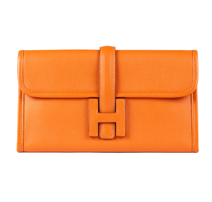 Hermes Jige Orange 21cm Swift