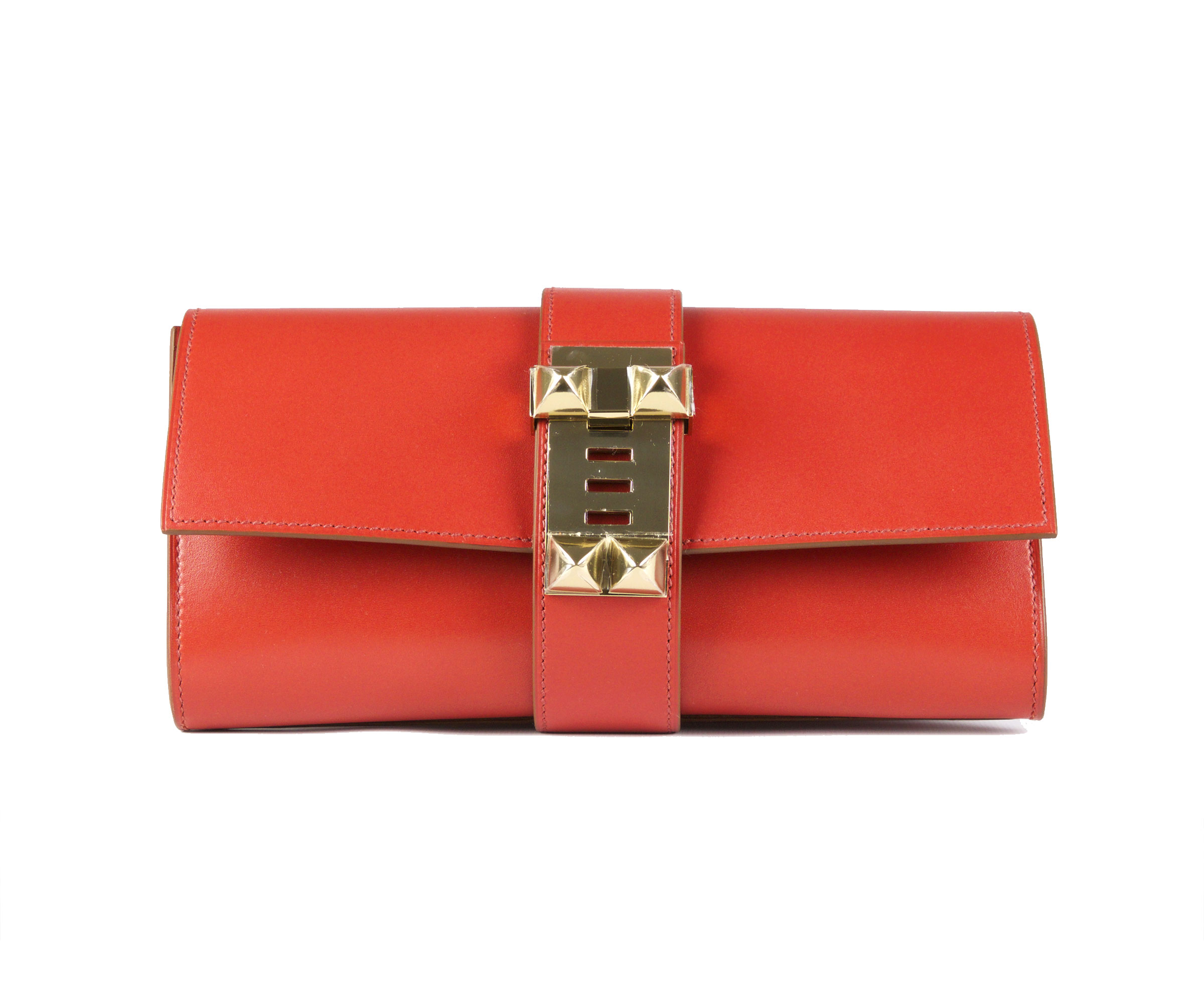 Hermes Medor Sanguine Box 23cm with Gold