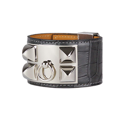 Graphite CDC Bracelet Matt Nilo Croc with Palladium