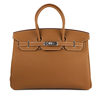 35cm Birkin Gold Togo Bag with Palladium