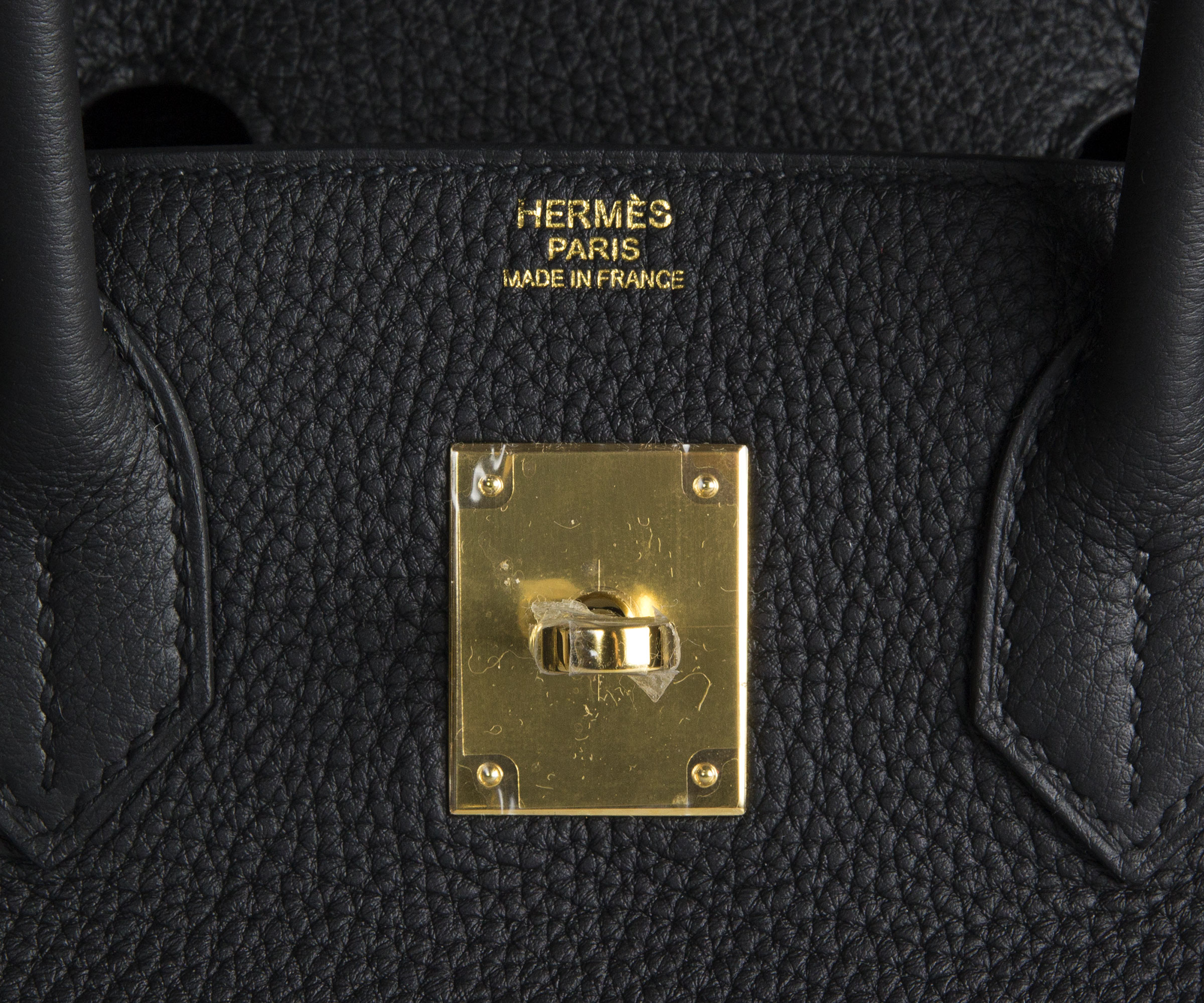 30cm Birkin Black Togo Bag with Gold