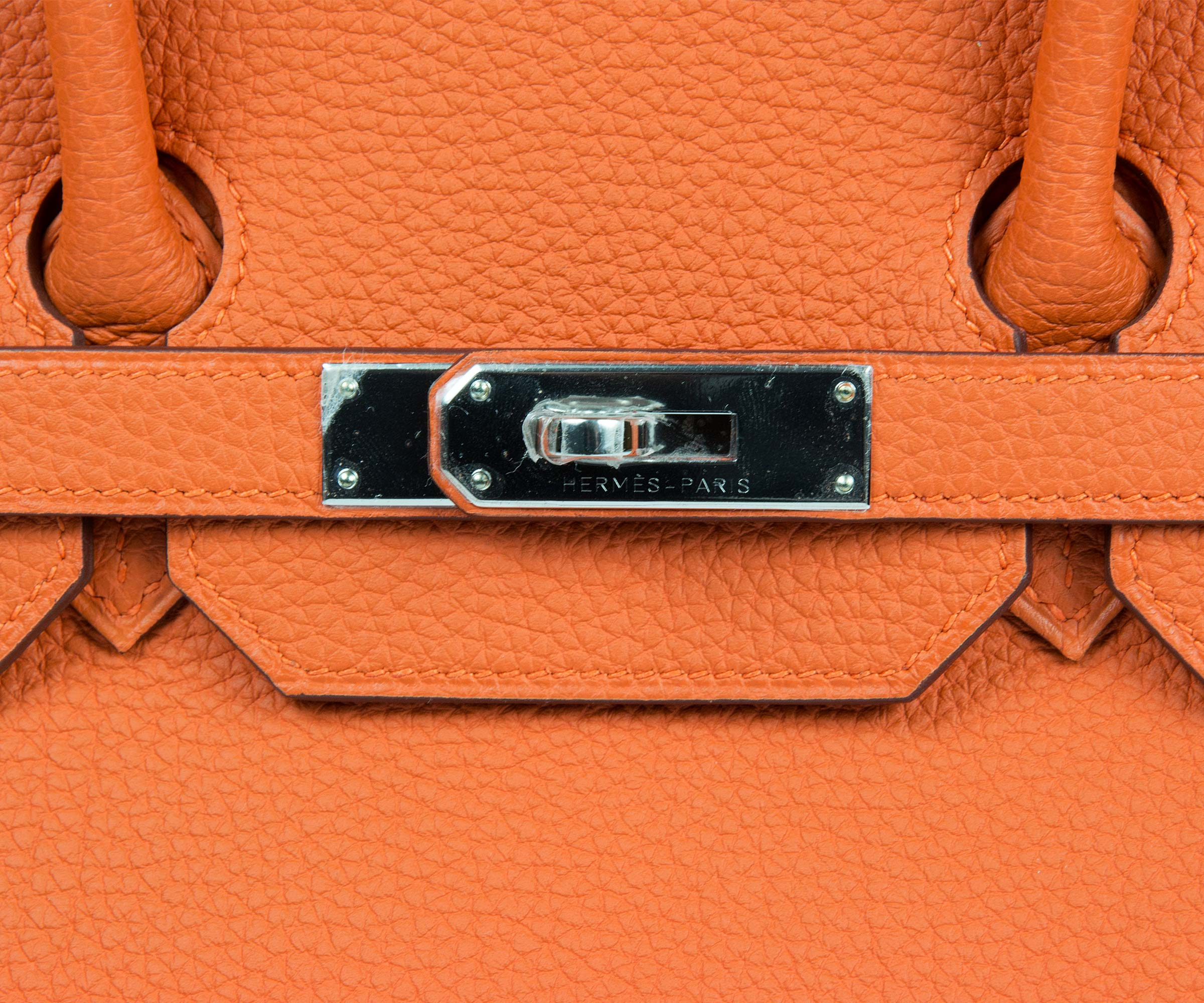 9d2787bbe6 ... where to buy hermes birkin orange 35cm togo with palladium hardware  68a53 1bca0
