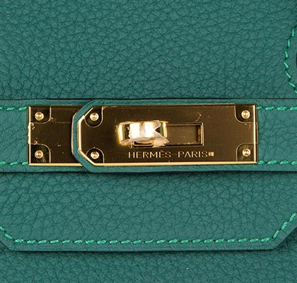 Hermes Birkin Malachite 35cm Togo with Gold Hardware